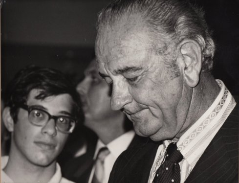 Scott with President Lyndon B. Johnson